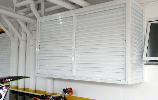 Box de alumínio para garagens