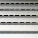 Detalhe veneziana ventilada - Box de alumínio para garagens