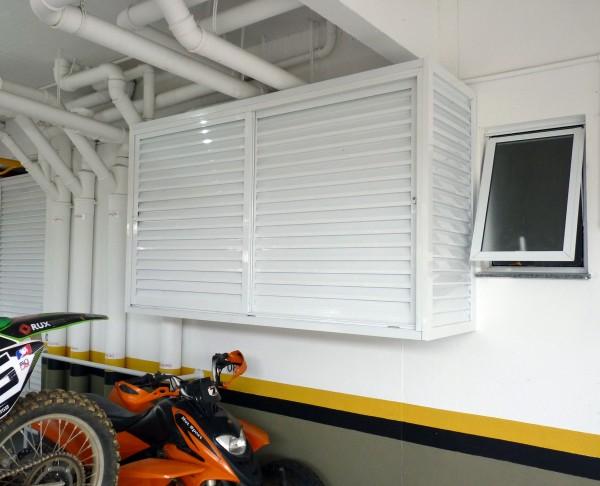 Armario de ferro para garagem : Magicdoor box de alum?nio para garagens