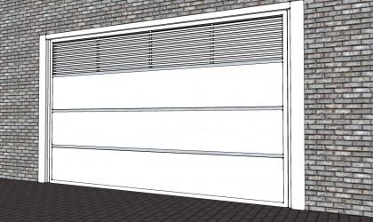 MagicDoor Tokio - Alumínio - Portão alumínio basculante MagidDoor modelo Tokio