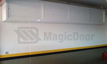 MagicDoor - Box de Alumínio para garagens - Box suspenso 4 folhas